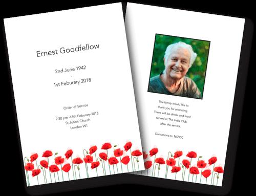 modern funeral order of service design