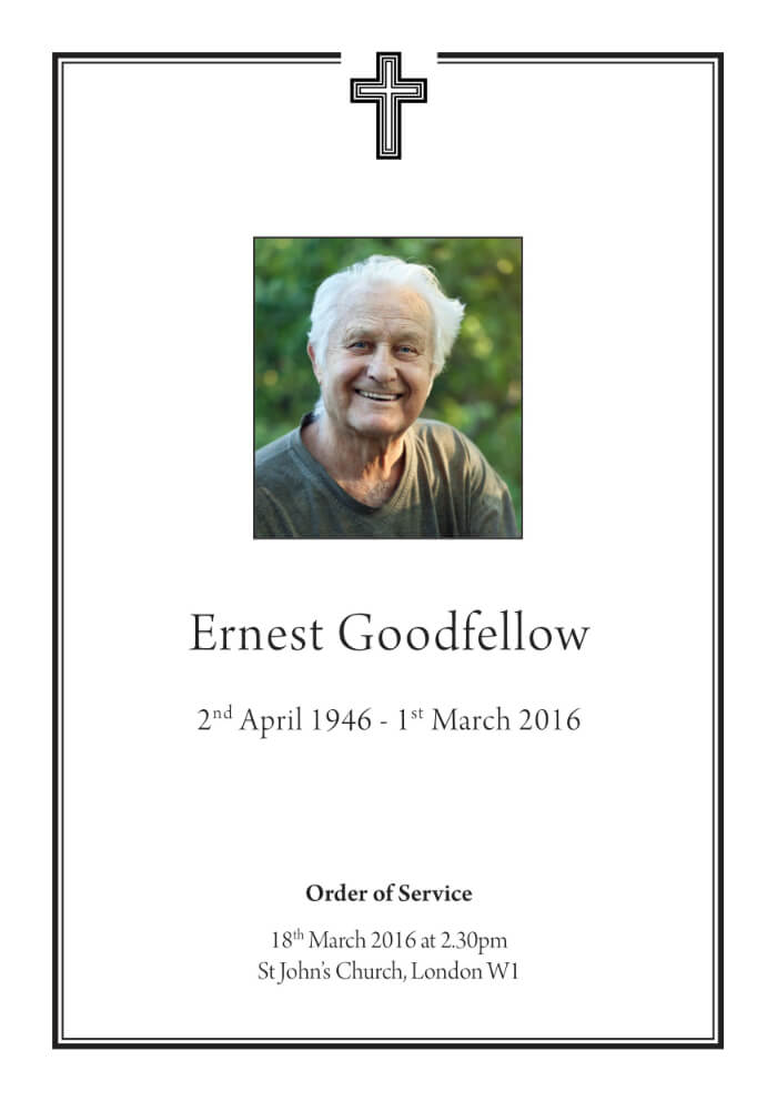 classic funeral order of service example